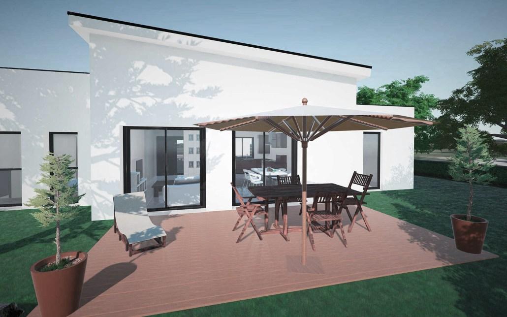 Vue jardin maison individuelle Angers application 3D intéractive