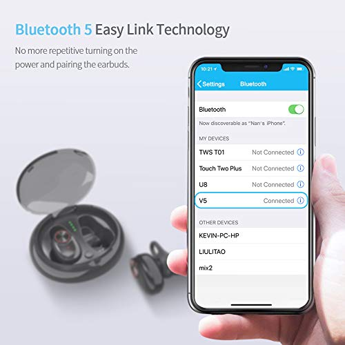 RealtorsBoutique com Bluetooth 5 0 Earbuds ICETEK True