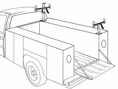 weather guard service body ladder rack