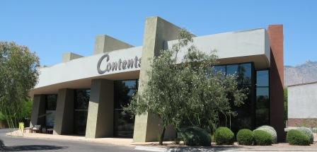 Contents Interiors, a furniture store on Fort Lowell Rd, is a distinct building designed by Howard's office
