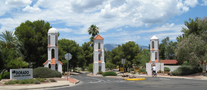 Entrance to Dorado Country Club Estates on Tucson's east side.