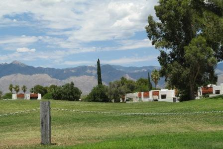 Many homes are located on the golf course and offer nice views of the Catalina mountains.