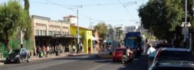 Tucson Streetcar in testing on 4th Avenue