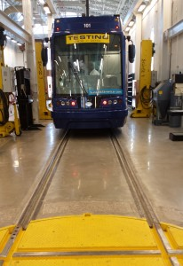 Tucson streetcar front view