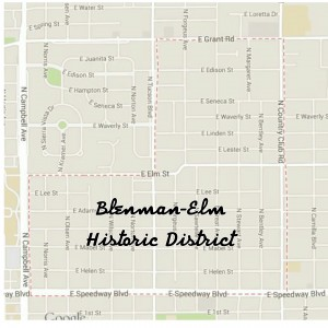 Blenman Elm Historic District map