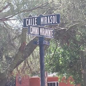 Street sign in El Encanto Estates