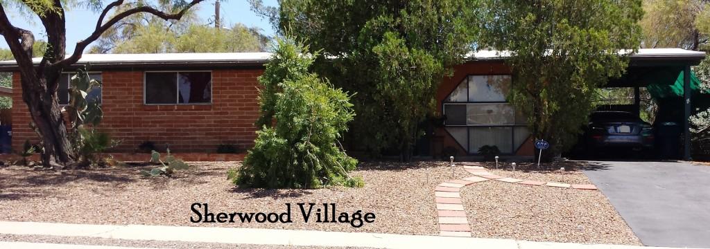 Sherwood Village a Lusk neighborhood on the east side of Tucson