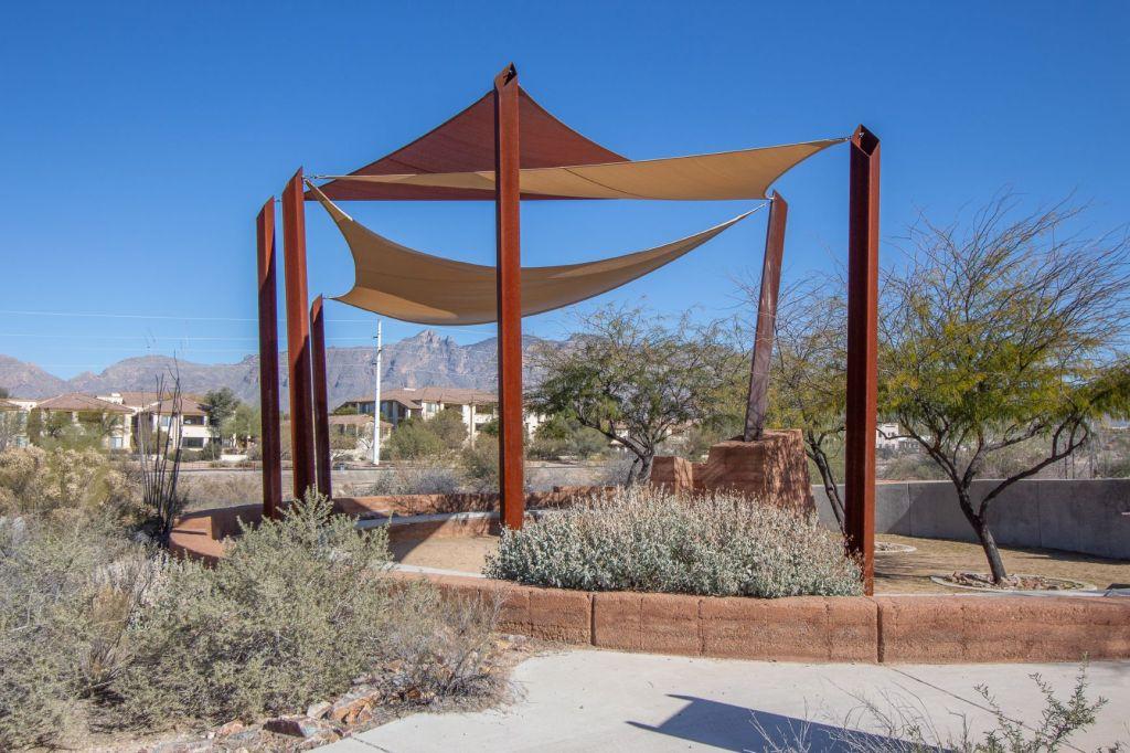 Shade structure at Rio Vista Park