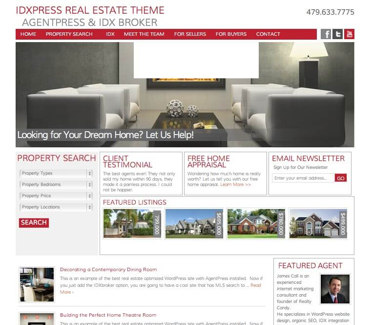 IDXPress AgentPress IDX Theme Perfect for IDX Broker - RealtyCandy ...