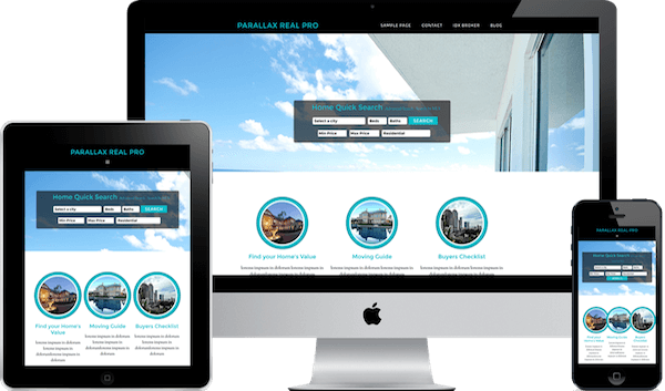 Phoenix Parallax IDX real estate theme