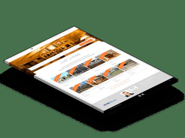 IDX home page design with widgets