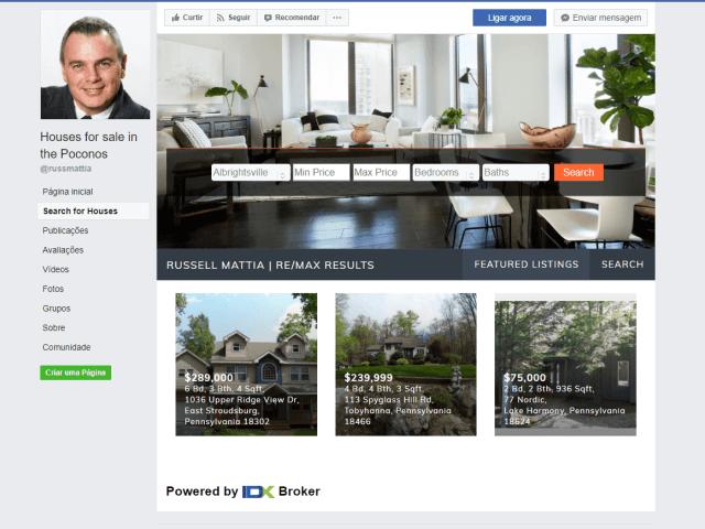 russ mattia facebook idx broker app