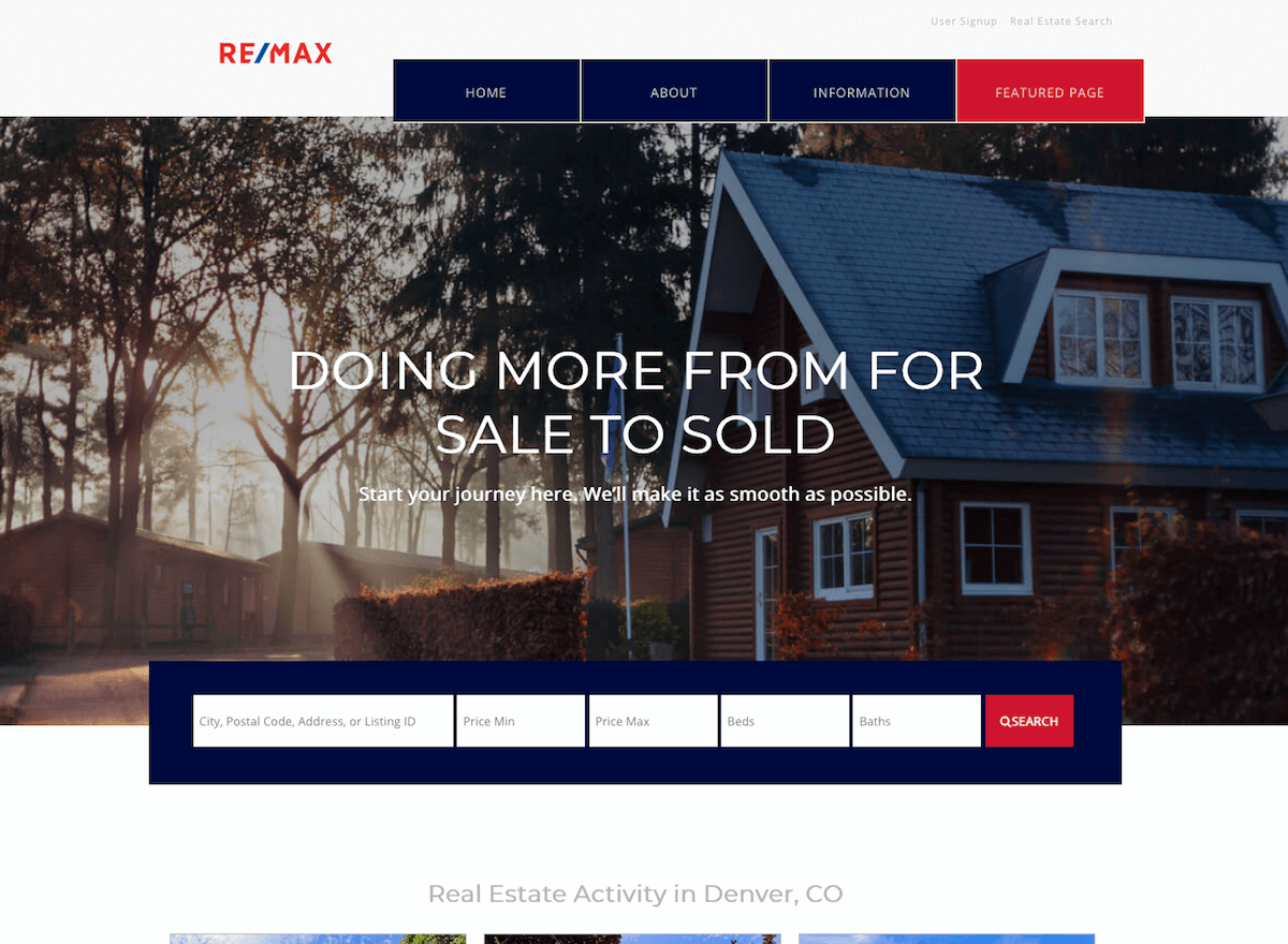 Sweethome Free Download Realestate Theme Demo Site Realtycandy Wordpress And Idx Broker