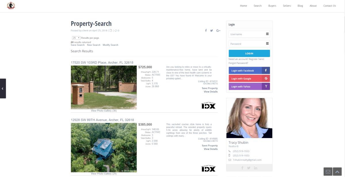 tracy shubin realty wpresidence wordpress idx broker site setup