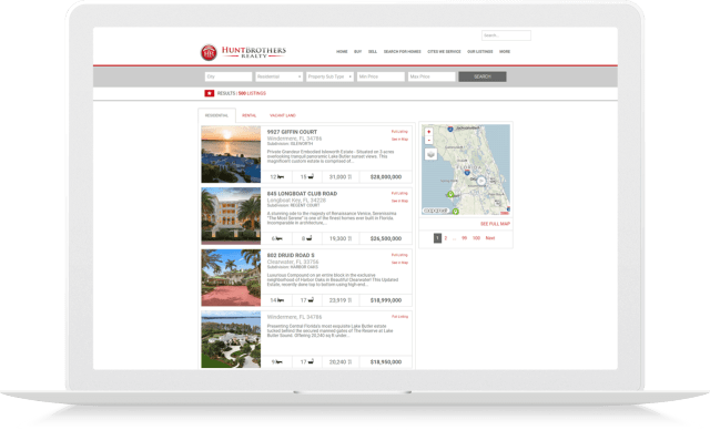 idx broker real estate site customization