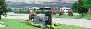 Rendering of Grandway West office project.