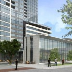 Rendering of Hanover high-rise residential tower proposed for Kirby Drive in Houston.