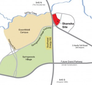 Skanksa site on Interstate 45, about 20 miles north of downtown Houston.