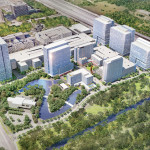 Rendering of proposed Republic Square in Houston's Energy Corridor.