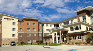Residence Inn completed in Springwoods Village, near Exxon Mobil.