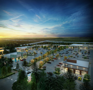 Rendering of the Market at Springwoods Village.