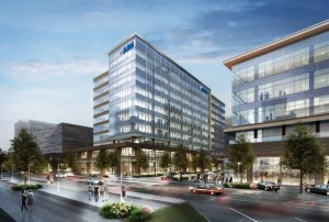 Rendering of new building that will be occupied by the American Bureau of Shipping.