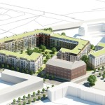 Rendering of proposed Hines residential project in Berlin.