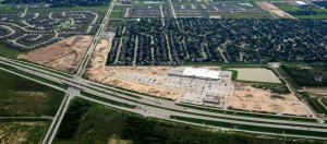 Site of Grand Morton Town Center in northern Katy, west of Houston.