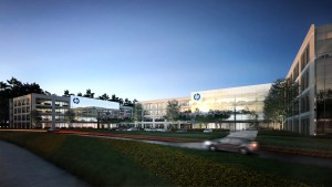 Rendering of the new HP campus under development by Patrinely Group in Springwoods Village north of Houston.