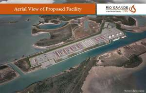 Rendering of proposed export facility planned for  Shoal Point in Texas City.