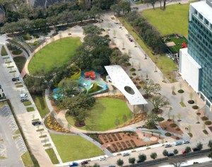 Levy Park, located in the Upper Kirby area, has been redeveloped.