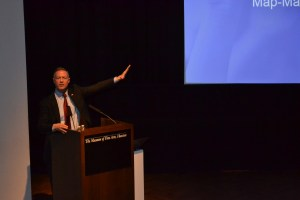 Martin O'Malley speaks at Houston's Museum of Fine Arts Wednesday.
