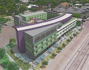 Rendering of 175-unit Hew Hope Housing facility, which is under construction near downtown Houton.