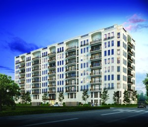 Rendering of The Revere, a proposed 33-unit condo near River Oaks. Architecture by Kirksey.