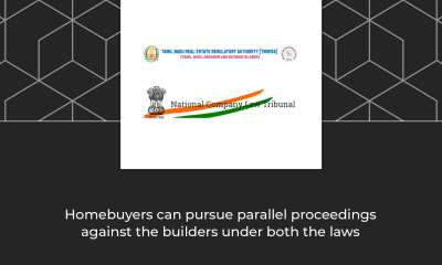 """Moreover, insolvency resolution process has been ordered. """"Institution of suits and continuation of suits against the developer in any court of law, tribunal or other authorities are prohibited,"""" the developer's counsel said. However, the TNRERA adjudicating officer said the Supreme Court had stayed only the proceedings before NCLT. """"Remedies under RERA to allottees were intended to be additional and not exclusive remedies,"""" Saravanan said citing the Supreme Court order. In another order relating to a housing project promoted by Marg Properties Limited at Pondur in Sriperumbudur, the TNRERA said provisions of RERA Act allows any person to withdraw a complaints from the disputes redressal forum at district, state or national level and file an application with the adjudicating officer under the RERA Act."""