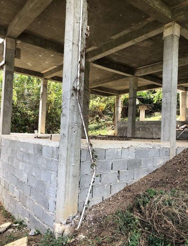 side view Fixer Upper House For Sale St Lucia, Mon Repos Micoud