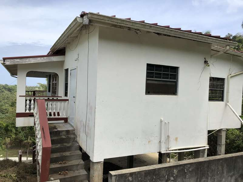 back of Fixer Upper House For Sale St Lucia, Mon Repos Micoud