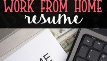 how to work from home writing resumes