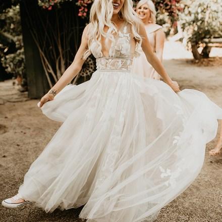 Always Elegant Bridal Wedding Attire Tuxedo Bridesmaid Dresses Real Weddings Magazine FEATURED