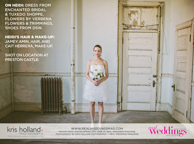 Photo by Kris Holland Photography (c) Real Weddings Magazine.