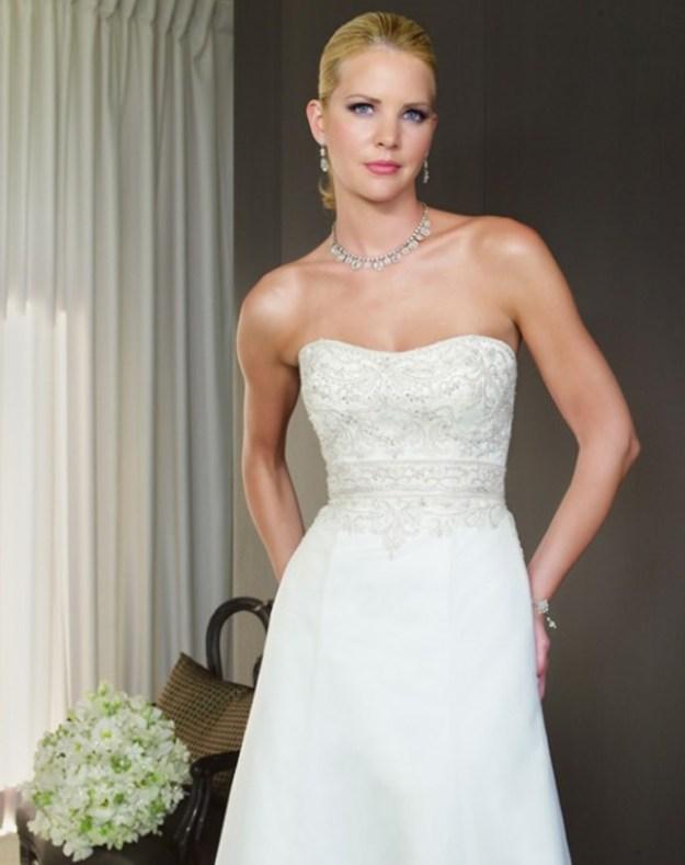 Real Weddings Dazzling Dresses: Winter Wonderland