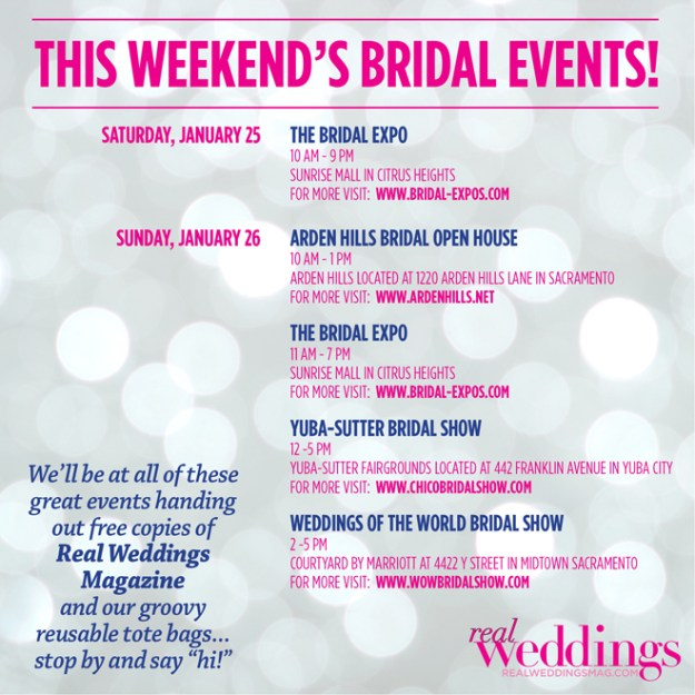 This Weekend's Bridal Events!
