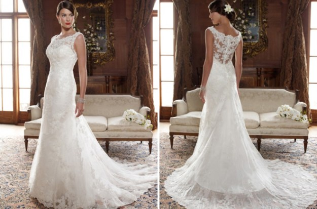 Real Weddings Dazzling Dresses: Be Mine