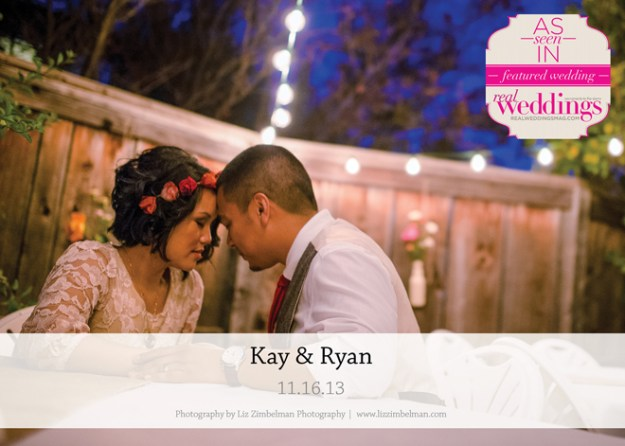 Featured Real Wedding: Kay & Ryan {from the Summer/Fall 2014 Issue of Real Weddings Magazine}