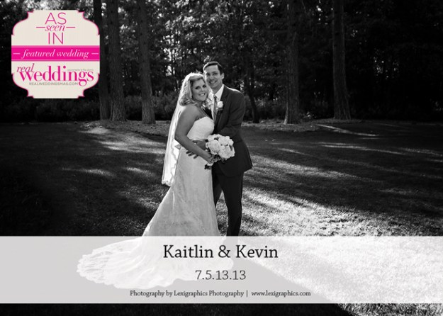 Featured Real Wedding: Kaitlin & Kevin {from the Summer/Fall 2014 Issue of Real Weddings Magazine}