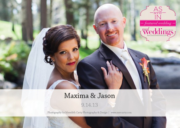 Featured Real Wedding: Maxima & Jason {from the Summer/Fall 2014 Issue of Real Weddings Magazine}