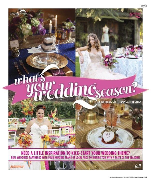 What's Your Wedding Season: Spring {The Layout}