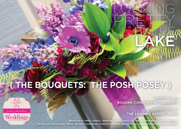 Sacramento Wedding Flowers: Looking Pretty by the Lake {The Bouquets: The Posh Posey}