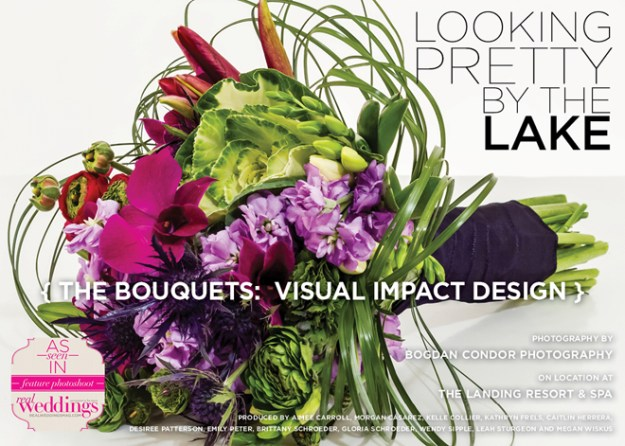 Sacramento Wedding Flowers: Looking Pretty by the Lake {The Bouquets: Visual Impact Design}