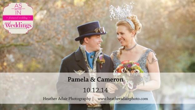 Sacramento Wedding Inspiration: Pamela & Cameron {from the Summer/Fall 2015 Issue of Real Weddings Magazine}